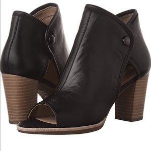 Geox Repira Open Toe Leather Ankle Boot Bootie New